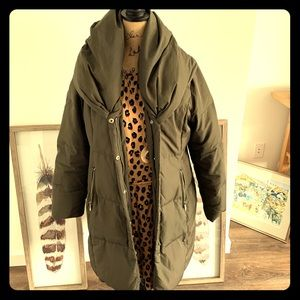 Olive green Michael Kors winter jacket
